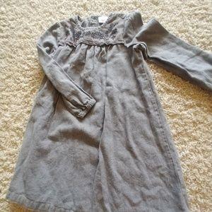 Charcoal gray embordiored dress